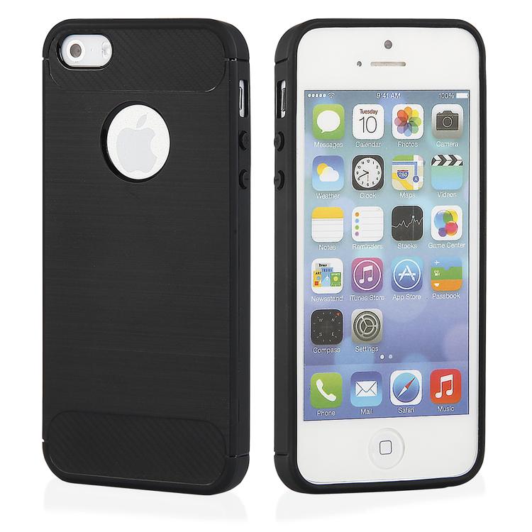 Ohebný carbon kryt na iPhone 5 5s SE - černý - Bewear.cz  5611a095148