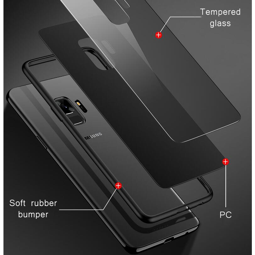 Clear-Mirror-Tempered-Glass-Case-For-Samsung-Galaxy-S8-S9-A5-A6-A7-A8-Plus-2018